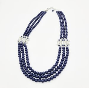 Lia Sophia Strings Beads Statement Necklace